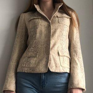 Elie Tahari Snake Skin Print Jacket